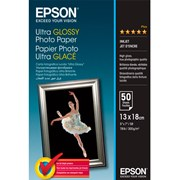 Epson Ultra Glossy Photo Paper 13x18cm - (50 folhas)