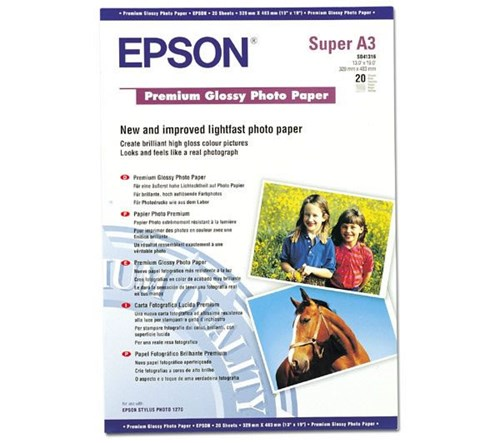 Premium Glossy Photo Paper A3+ (20 Folhas)