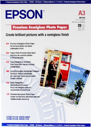 Premium Semigloss Photo Paper A3 (20 Folhas)