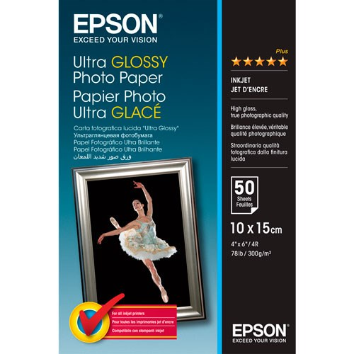 Epson Ultra Glossy Photo Paper 10x15cm - (50 folhas)